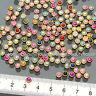 150PCS 5mm Mixed Pastel Pearl Round Gold Nail Art Rhinestone Decorations #E1099