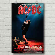 AC/DC Let There Be Rock concert movie poster canvas print AC DC