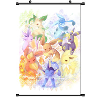 "Hot Japan Anime Pokemon Monster Eevee Home Decor Poster Wall Scroll 8""x12"" PP280"