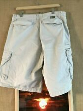 "U.S. Polo ASSN. men's ivory flat front solid cargo short size 34 x 10.5"" cotton"