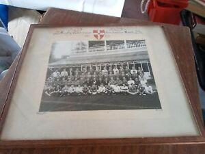 "Rugby Cambridge University Freshmans Match Oct 1941 Photograph Framed 11 X 9"""