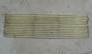 Set 15 Reclaimed Antique Victorian Brass Stair Rods Turned Finials 23 3/4""