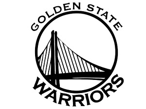 """Golden State Warriors NBA Decal """"Sticker"""" for Car or Truck or Laptop"""