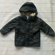 Baby Boys 18-24 Months - Jacket - NEXT Black Barbour Style Coat Mac Hooded
