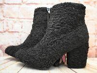 Womens Primark Black Zip Up Mid Heel Ankle Boots Size UK 5 EUR 38 US 7