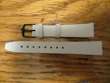 Lot 10 New Old Stock LeJour HIRSCH Sixty Watch Leather Bands-White 16 MM AUSTRIA