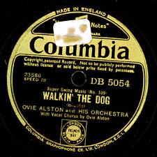 OVIE ALSTON ORCH. Walkin' the Dog / Home Cockin' Mamma   Schellackplatte X3443