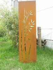 Edelrost Sichtschutz Wand Metall,Rost Sichtschutzwand Gartenzubehör 125*35 cm