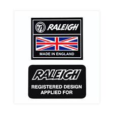 TI Raleigh Made in England & Reg Design Decals Sticker Raleigh Chopper Grifter