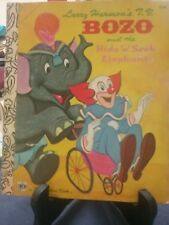 BOZO AND THE HIDE 'N' SEEK ELEPHANT Little Golden Book S/C 1976 (VGC)