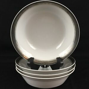 Set of 4 VTG Cereal Bowls by Mikasa Tempo Seventy Fine China Mercury 5895 Japan