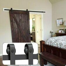 6.6ft Heavy Duty Sturdy Sliding Barn Wood Door Hardware Kit Single Door