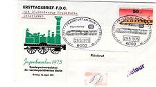 BUND Umschlag MiNr. 838,Sonderstempel IC Frankfurt-Interlaken von 1975, gelaufen