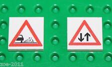Lego 2x White Tile 2x2 Custom Printed Road Sign NEW!!! 8