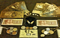 ☆HUGE-40+Pc.LOT~SILVER + U.S & EURO GOLD Banknotes/SHARK Teeth +COINS And MORE ☆