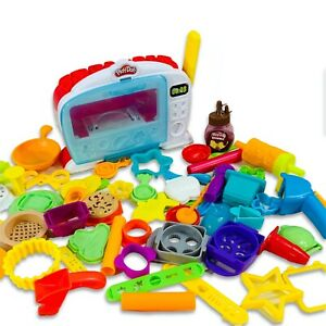 HASBRO Playdoh Mixed Lot of 56 PLAY DOH Oven Molds Tools Cutters & Accessories