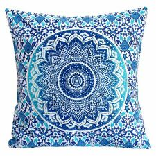 Indian Cotton Tapestry Mandala Pillow Cover Indian Hippie Bohemian Cushion Cover