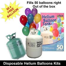Helium Gas Tank Kit 50 Balloon Party Fun Wedding Functions Birthday