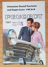 Peugeot 404 Berline - Prospekt Brochure Modelljahr 1967 (deutsch)