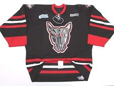 MISSISSAUGA ICEDOGS AUTHENTIC OHL BLACK PRO CCM HOCKEY JERSEY SIZE 54