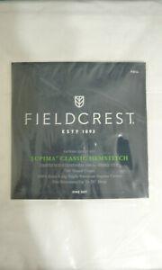 NIP Fieldcrest Supima Classic Hemstitch Sateen FULL Sheet Set 700 Thread