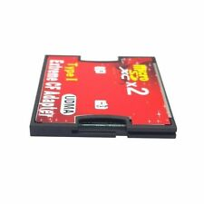 Dual Slot micro SD TF Memory Card to Compact Flash CF Type I Adaptor Converter