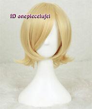 Lalonde Anime Cosplay peluca de pelo rubio corto + un casquillo de la peluca