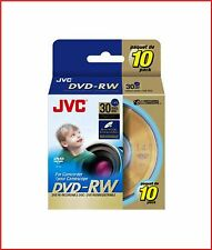 JVC DVD-RW 1.4 Gb 8cm 30min REWRITABLE TELECAMERA MINI DISCHI DVD SPINDLE PACK 10