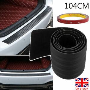 UK 104cm Car Rear Bumper Sill Body Guard Protector Rubber Plate Trim Strip Cover