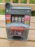 "BONANZA BANK SLOT MACHINE 1960'S-70'S RADICA. ""WORKING"""