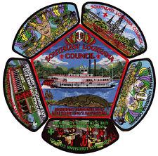 2017 Boy Scout Jamboree Southeast Louisiana Council Patch JSP CSP Badge Set Lot