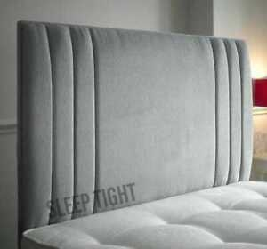 Crushed Velvet Headboard TriStripe - 24inch - Bed Headboard  - Double - Kingsize