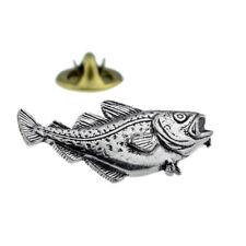 Cod fish fishing English Pewter Lapel Pin Badge XTSPBF05