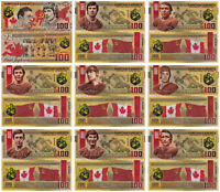 Set of 9 banknotes 100 rubles Superseriya SSSR-Canada 1972 UNC