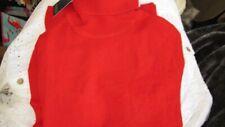 """luxury 100% cashmere Adrienne Vittadini polo neck JUMPER tomato red L 38"""" bnwt"""