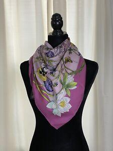 GUCCI Silk Scarf Floral