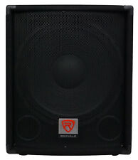 "Rockville SBG1154 15"" 800 Watt Passive 4-Ohm Pro DJ Subwoofer, MDF/Pole Mount"