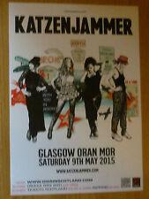 Katzenjammer - Glasgow may 2015 tour concert gig poster