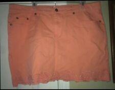 Womens Plus Size 18 Venus Coral Denim Mini Skirt