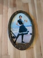 Vintage Budweiser Beer Woman Girl Plastic Bar Sign Anheuser Busch Sailor