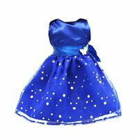 Fashion Sequins Sleeveless Party Dress for 18 Inch American Girl Dolls Blue