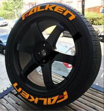 """FALKEN FULLSET ORANGE Tire Letters Stickers decal HIGH QUALITY 14""""to22""""with glue"""