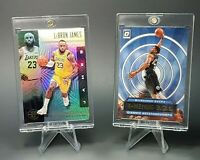 Lebron James LAKERS REFRACTOR & Giannis DONRUSS OPTIC LOT - MINT - UV CASES