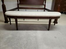 Henkel Harris King Bed Bench Cream Fabric Chippendale