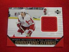 2005 Upper Deck Henrik Zetterberg shooting Stars jersey card  Red Wings gu jsy