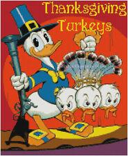 "Disney's Donald Duck and Nephews in ""Thanksgiving Turkeys"" X-Stitch Pattern CD"