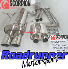 Scorpion BMW 3 Series 330 E46 Stainless Exhaust System Cat Back (00-06) SBM053