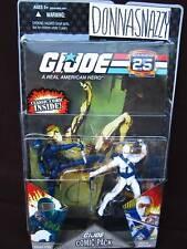 G.I. GI JOE 2 COMIC PACK SNAKE EYES STORM SHADOW 25th NEMESIS LT FALCON FIREFLY