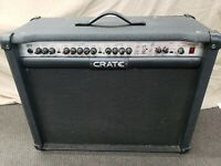 Crate GTX212 120 watts Guitar Amp Tested Works & Sounds Good ! 3 Channel RARE