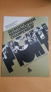 Vintage Boxing Program: Muhammad Ali-George Foreman. Closed Circuit TV. Clean.